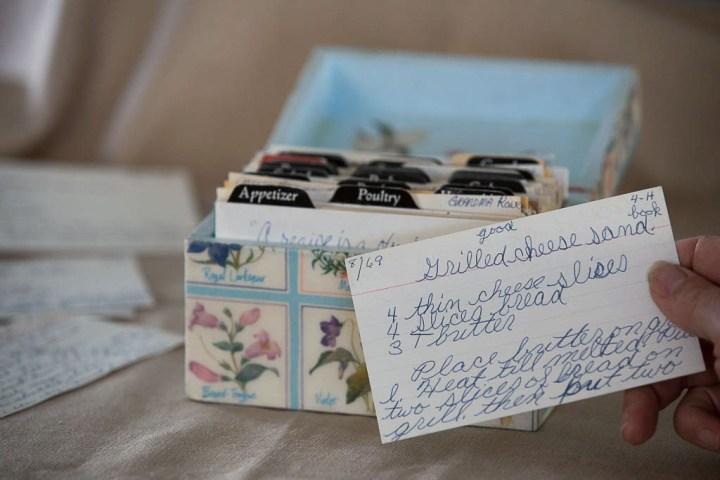 Karen's old recipe box