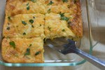 pan of Chile Relleno Bake being served