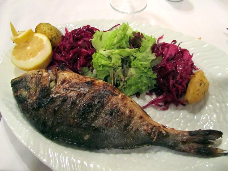 Fish dinner in Moldova