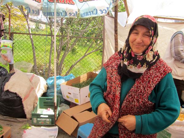 Turkish market vendor