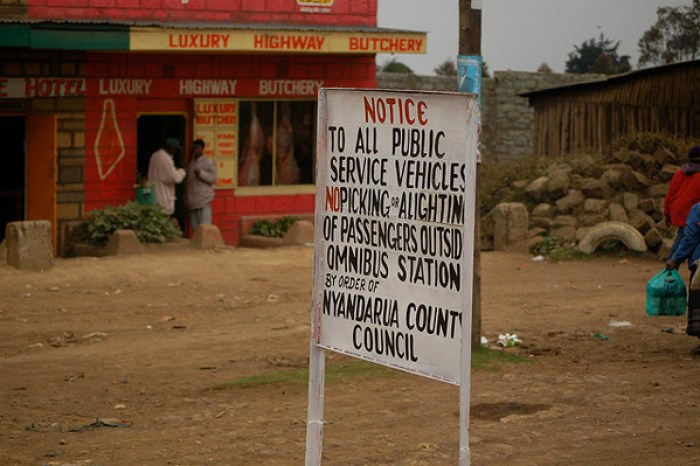 Road sign in Kenya