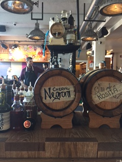 barrel-aged cocktails at Slippbarinn