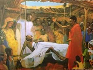 Jesus Heals a Paralysed Man - vie de Jesus mafa