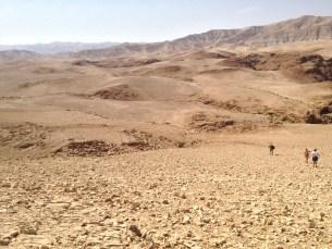 From the top at Qumran (looking towards Jerusalem).
