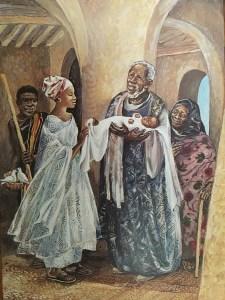 Jesus is presented in the Temple, Mafa Jesus