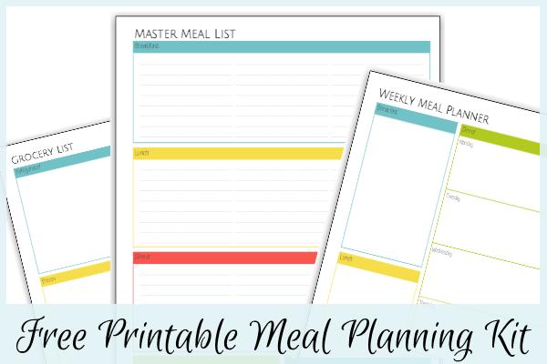 Printable Meal Planning Kit at LifeInTheNerddom.com