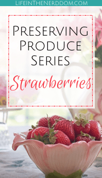Preserving Strawberries at LifeInTheNerddom.com