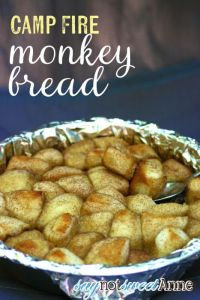Camping Meals for Dinner and Dessert at LifeInTheNerddom.com - Campfire Monkey Bread Courtesy of SayNotSweetAnne
