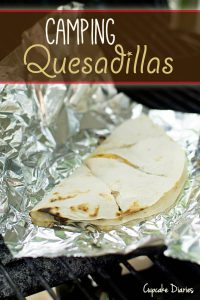 Camping Meals for Dinner and Dessert at LifeInTheNerddom.com - Camping Quesadillas Courtesy of Cupcake Diaries
