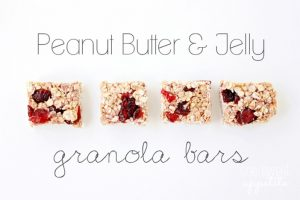 Peanut Butter and Jelly Granola Bars from One Sweet Appetite