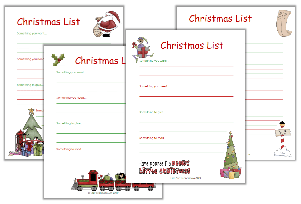 photo relating to Printable Christmas List identify Xmas Record - Everyday living within just the Nerddom