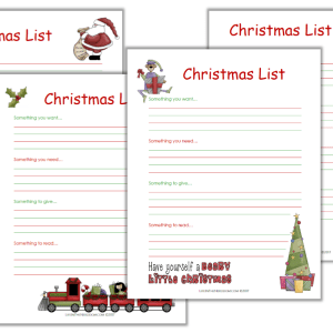 Printable Christmas List Pack