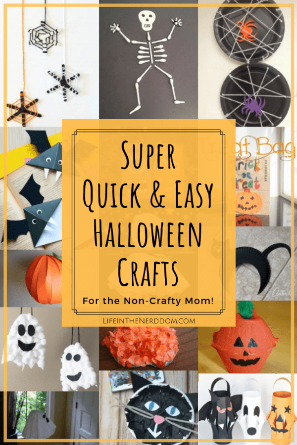 Super Quick & Easy Halloween Crafts for the Non-Crafty Mom at LifeInTheNerddom.com