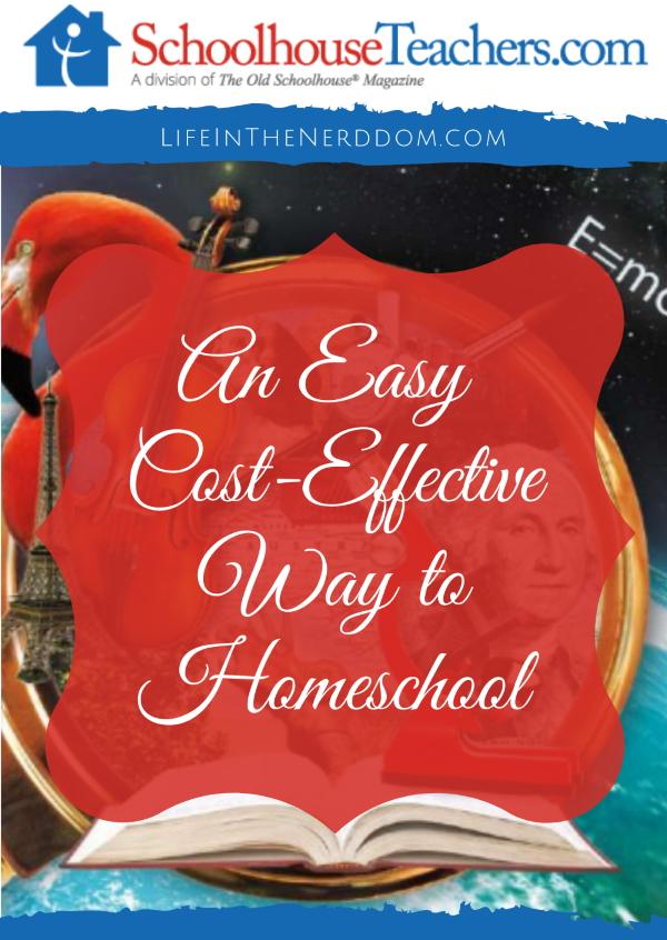 An Easy Cost-Effective Way to Homeschool at LifeInTheNerddom.com