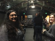 Stage Managers Iman Khan and Caroline Johnson