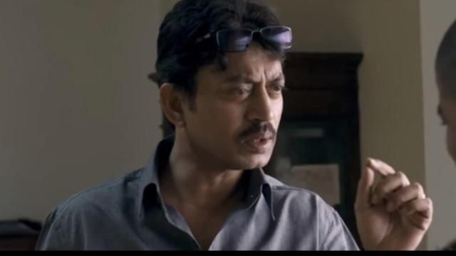 Irrfan chews the scene, as he's frustrated by the police bungling