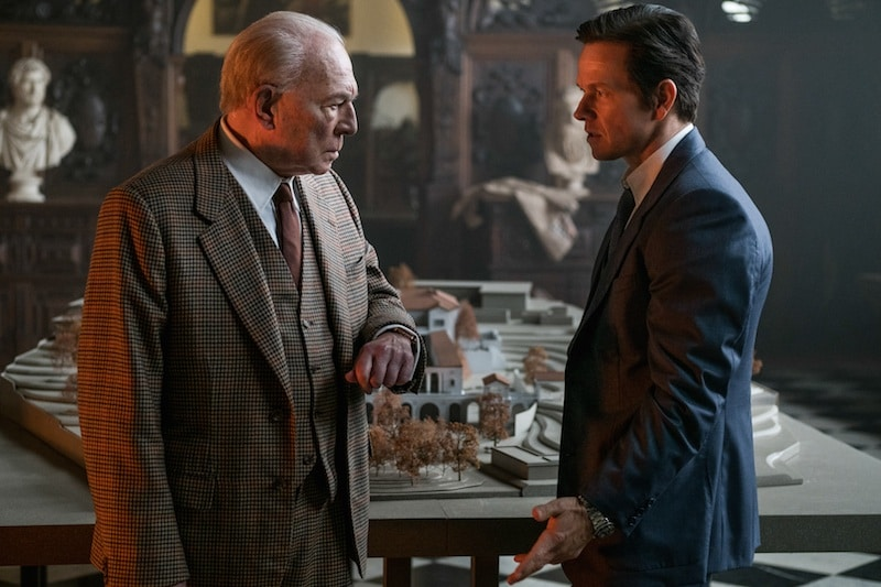 Christopher Plummer and Mark Wahlberg discuss the worth of a grandson