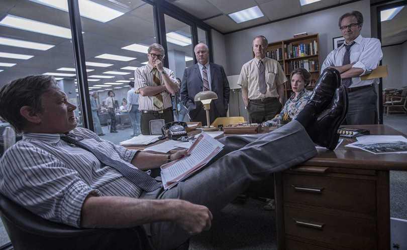 Tom Hanks, Philip Casnoff, David Cross, Bob Odenkirk, and Jessie Mueller - mulling over New York 's times