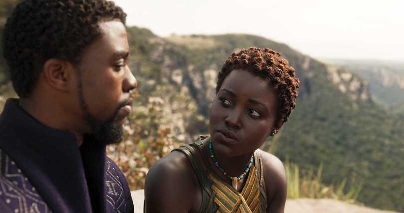 Chadwick Boseman, Lupita Nyong'o- seeing eye to eye