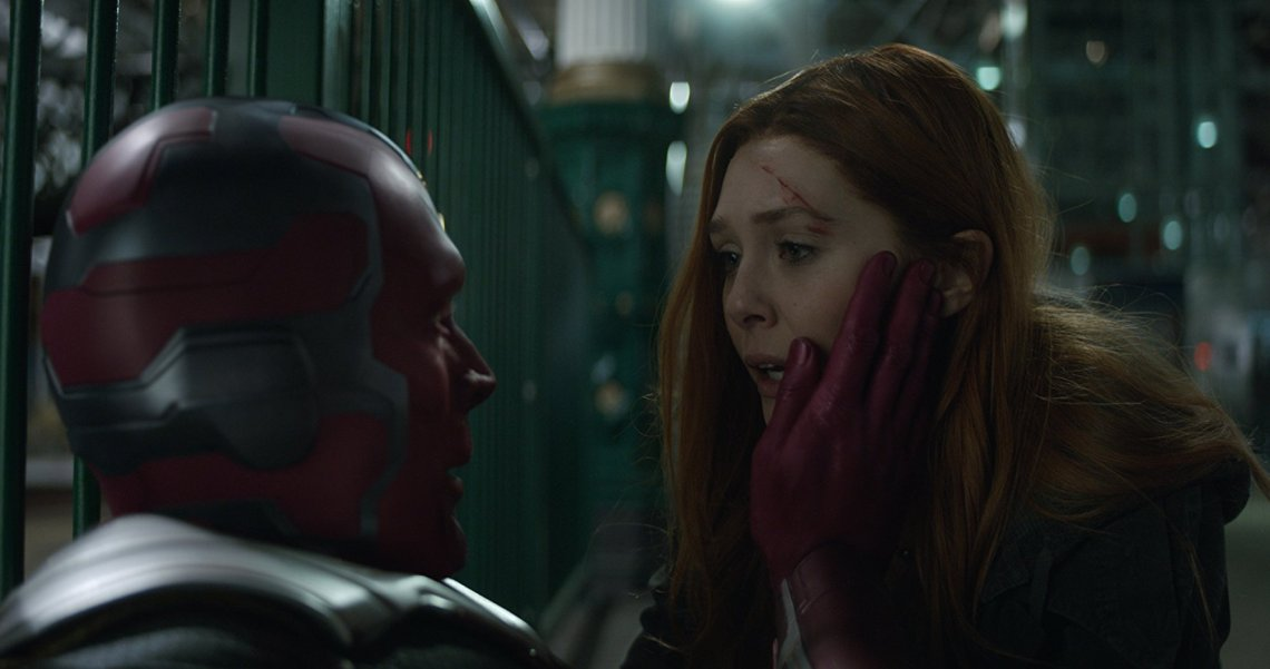 Paul Bettany and Elizabeth Olsen discover that being stoned can problematic.