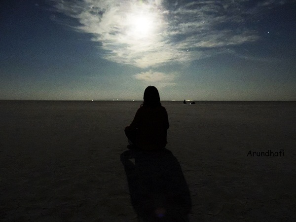Joy of experiencing Full Moon in Rann of Kutch