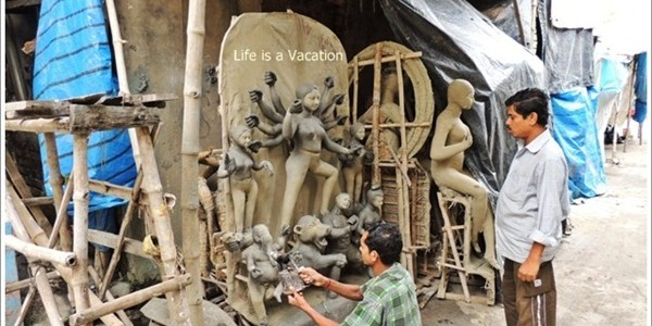 The Making of a Mother, Goddess Durga Idols, Kolkata