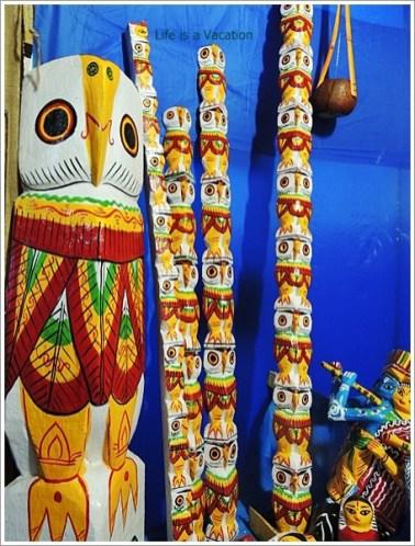 Wooden Owls from Burdwan ,Bengal