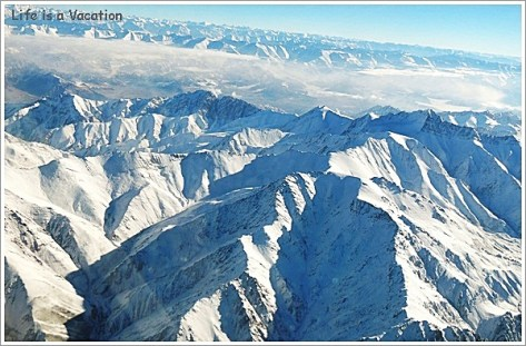 Flying over Himalayas- Delhi to Leh Flight