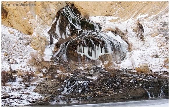 Waterfalls on Chadar Trek