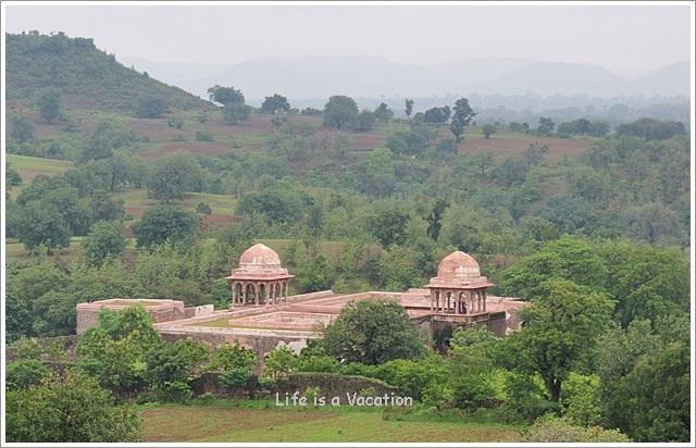Mandu Baz Bahadur Palace View from Roopmati Pavilion