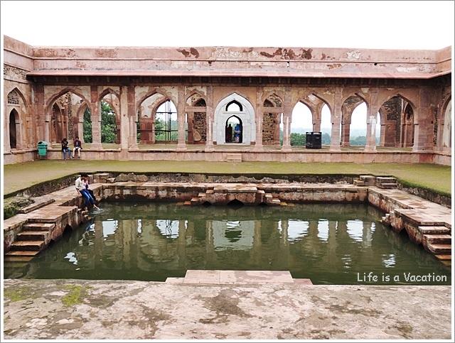 Mandu Baz Bahadur Palace Courtyard