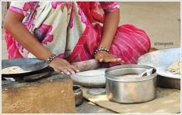 Making Indin Roti-Jodhpur Village Tour Roti Making