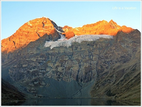 Gangbal and Nundkol Lake Harmukh Peak Sunrise in Kashmir