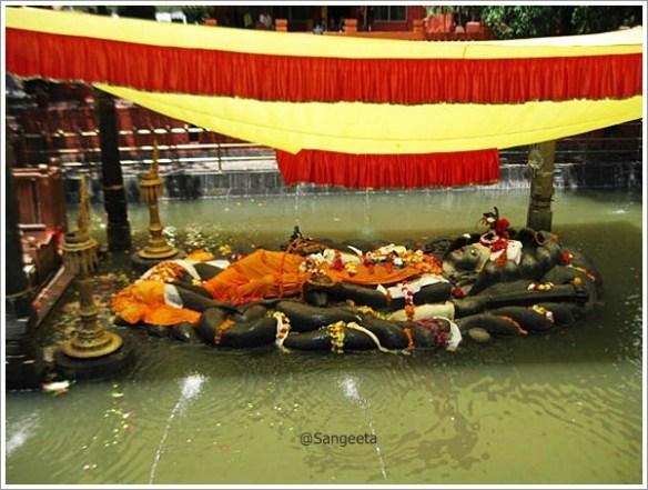 Kathmandu Budha Nilkantha - Sleeping Vishnu