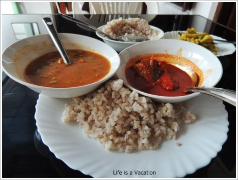 Brown Rice in Hot Dishes Alleppey Kerala