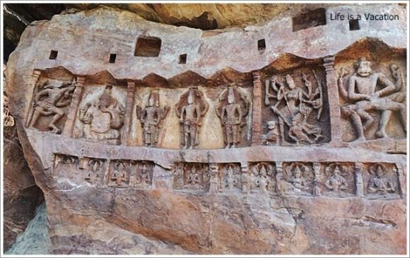 Badami Bhoothnath Wall Carving2
