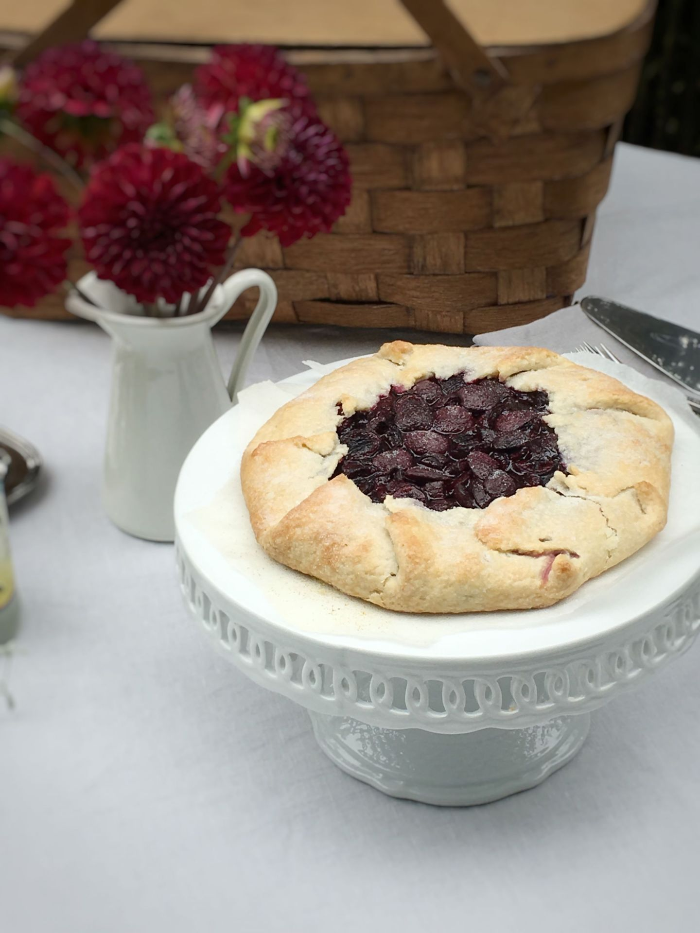 Rustic Garden Party: Cherry Galette