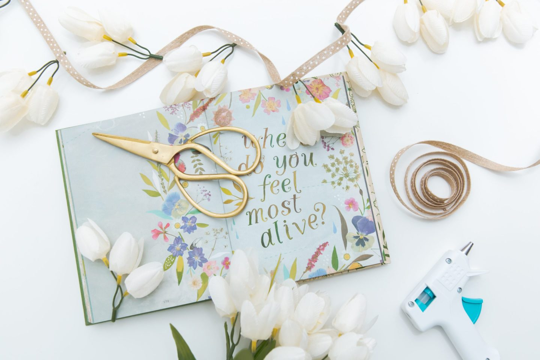 DIY Faux Bloom Spring Garland