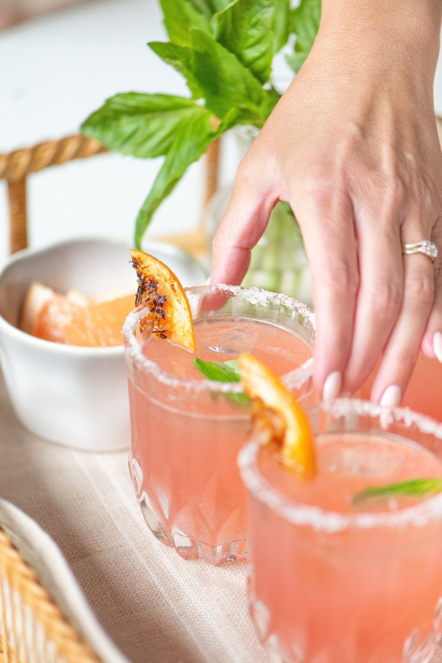 Refreshing Grapefruit Basil Paloma Recipe