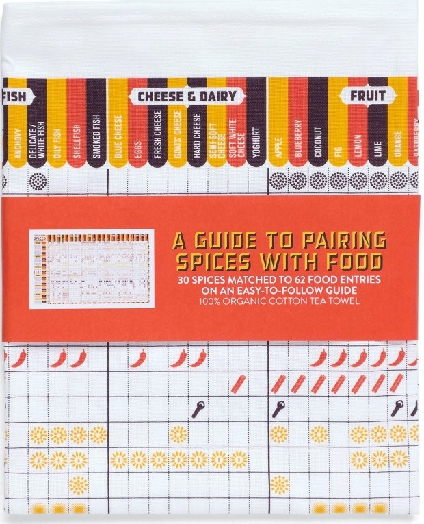 Pairing Spices with food_ tea towel