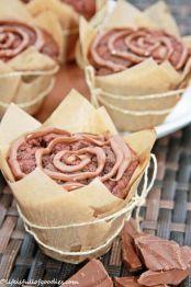 Nougat gefüllte Muffins