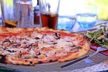 Zwischen all dem Fisch gab´s zwischendurch auch mal ´ne Pizza.