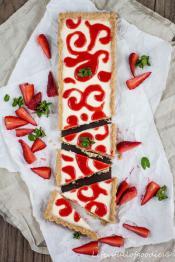Panna Cotta Tarte mit Erdbeere
