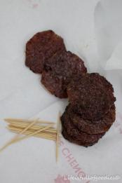 Getrocknetes süßes Fleisch als Einstieg