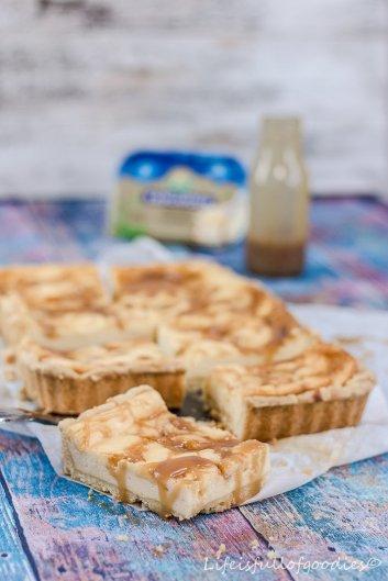 Cheesecake Bars mit Salzkaramell