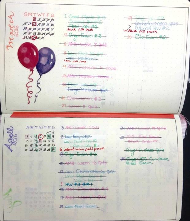 Best Bullet Journal layouts2