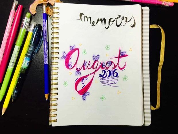 bullet journal august layout memories04