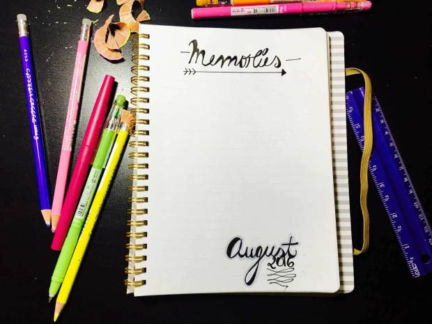 bullet journal august layout memories06