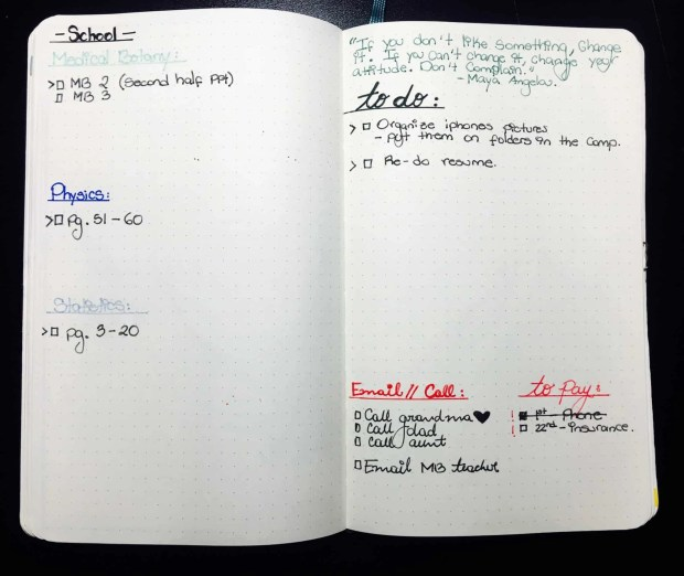 bullet journal august layout setup03