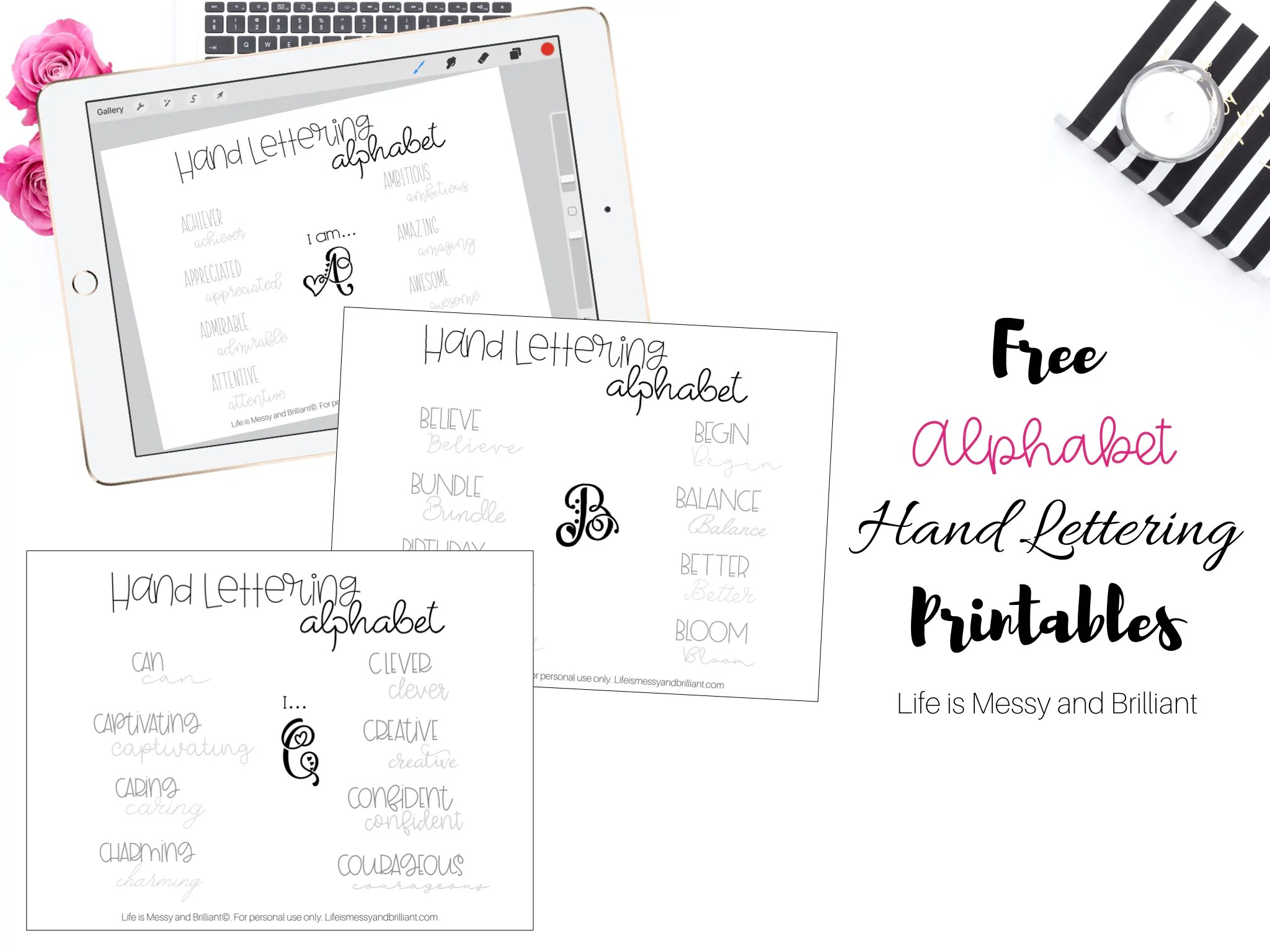 Free Hand Lettering Practice Worksheets